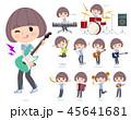 女性 楽器 音楽のイラスト 45641681