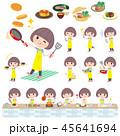 女性 料理 クッキングのイラスト 45641694