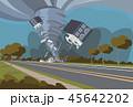 サイクロン 災害 住宅のイラスト 45642202
