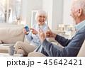 夫婦 老人 シニアの写真 45642421
