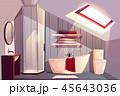 浴室 屋根裏 お風呂のイラスト 45643036