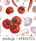 シームレス 水彩画 トマトのイラスト 45643721