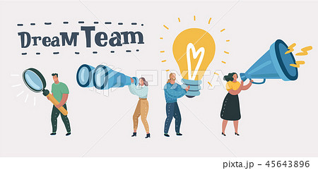 Dream team, team work leadership qualities 45643896