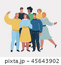 グループ 仲良し 仲間のイラスト 45643902