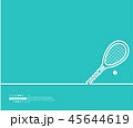 テニス ラケット ボールのイラスト 45644619