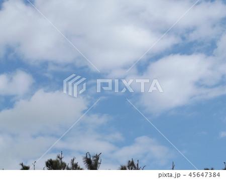 稲毛海岸の青空と白い雲 45647384