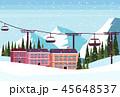 ウィンター 冬 スキーのイラスト 45648537