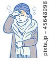 風邪 女性 ベクターのイラスト 45648998