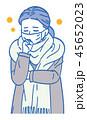 女性 ベクター 咳のイラスト 45652023