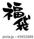 筆文字 文字 福袋のイラスト 45652889