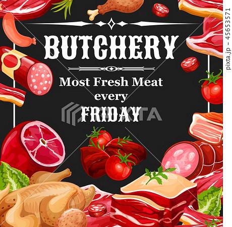 Butcher shop farm meat products 45653571