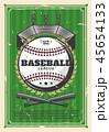 ベースボール 白球 野球のイラスト 45654133