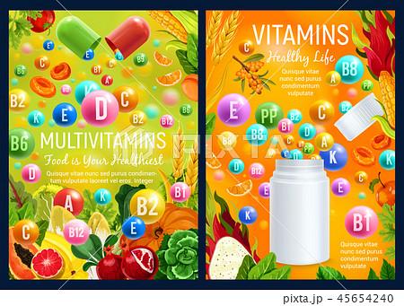 Multivitamins complex in food, health care 45654240
