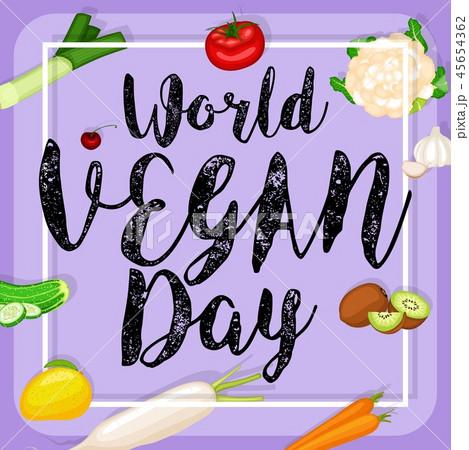 World vegan day design 45654362