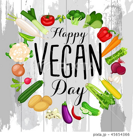 World vegan day design 45654366
