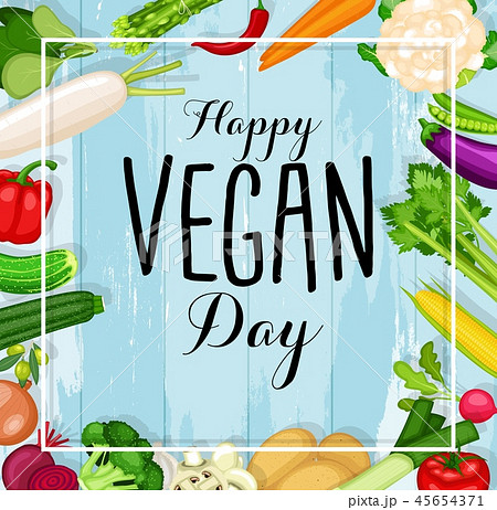 World vegan day design 45654371