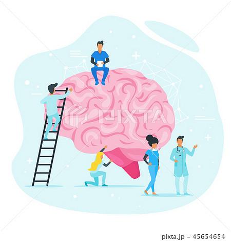 Treatment of brain diseases concept.  45654654