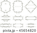 飾り枠 枠 フレームのイラスト 45654820