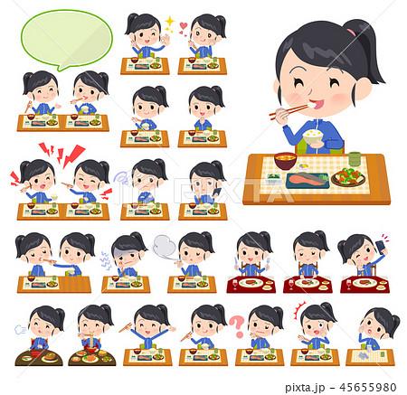 school girl Blue jersey_Meal 45655980