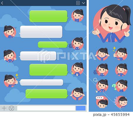 school girl Blue jersey_sns 45655994