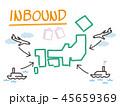 インバウンド 旅行 日本のイラスト 45659369