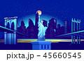 街 都会 都市のイラスト 45660545