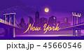 都市 夜 ネオンのイラスト 45660546
