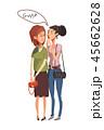 女性 女性達 お喋りのイラスト 45662628
