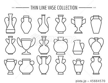 Thin line vases set 45664570
