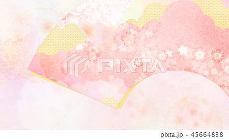 和-和風-和柄-背景-和紙-春-桜-ピンク 45664838