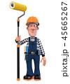3d illustration Builder worker in overalls 45665267