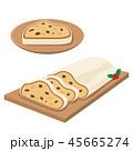 シュトーレン クリスマス 菓子パンのイラスト 45665274