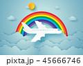 航空機 くも 雲のイラスト 45666746