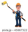 3d illustration Builder worker in overalls 45667322