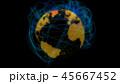 グローバル グローバルネットワーク 地球のイラスト 45667452