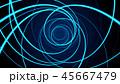 アブストラクト 通信 ブルーのイラスト 45667479