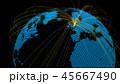グローバル グローバルネットワーク 地球のイラスト 45667490