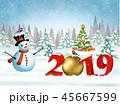 2019 クリスマス ゆきのイラスト 45667599