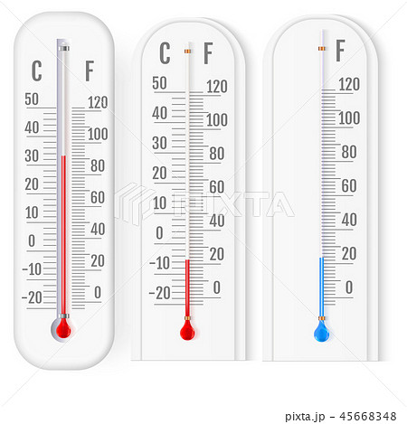Classic  fahrenheit and celsius thermometers 45668348
