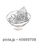 ラーメン 食 料理のイラスト 45669708