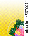 花 正月飾り 市松模様のイラスト 45670054