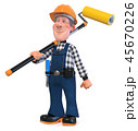 3d illustration Builder worker in overalls 45670226
