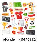 サッカー フットボール 蹴球のイラスト 45670882