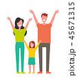 ファミリー 家庭 家族のイラスト 45671315