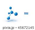 バックグラウンド 原子 分子構造のイラスト 45672145