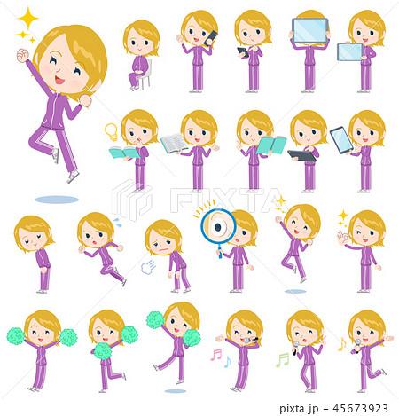school fair skin girl purple jersey_Action 45673923
