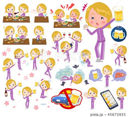 school fair skin girl purple jersey_alcohol 45673935