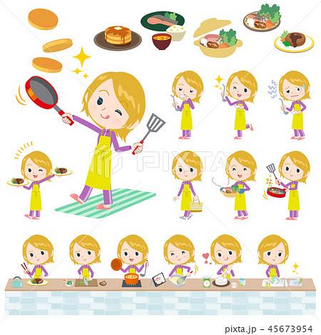 school fair skin girl purple jersey_cooking 45673954