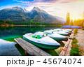 ボート 湖 景色の写真 45674074