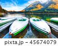 ボート 湖 景色の写真 45674079
